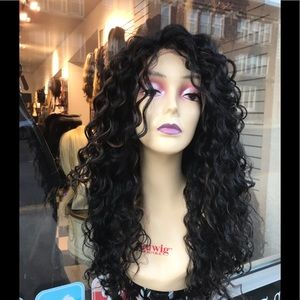 Black long Curly Lacefront wig 2019 hairstyle 26